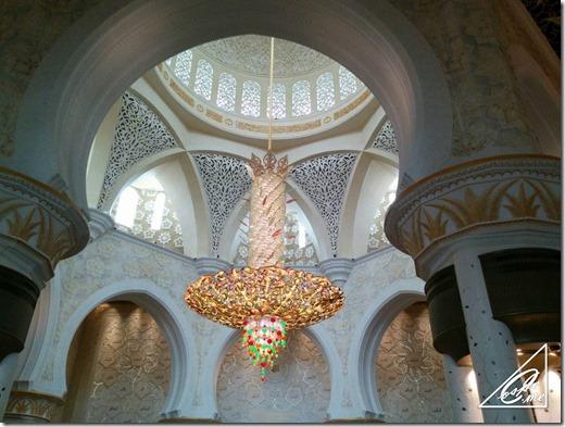 sheikh rashid mosque chandelier