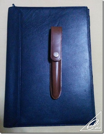 b5 leather cover pen