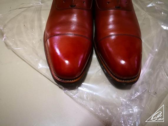high shine shoe