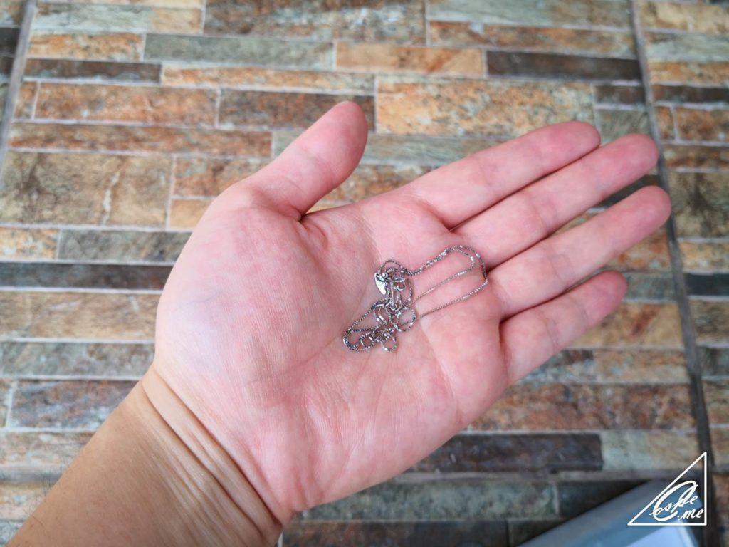プラチナ(Pt850)ネックレスを足首に!アンクレットに【再利用】